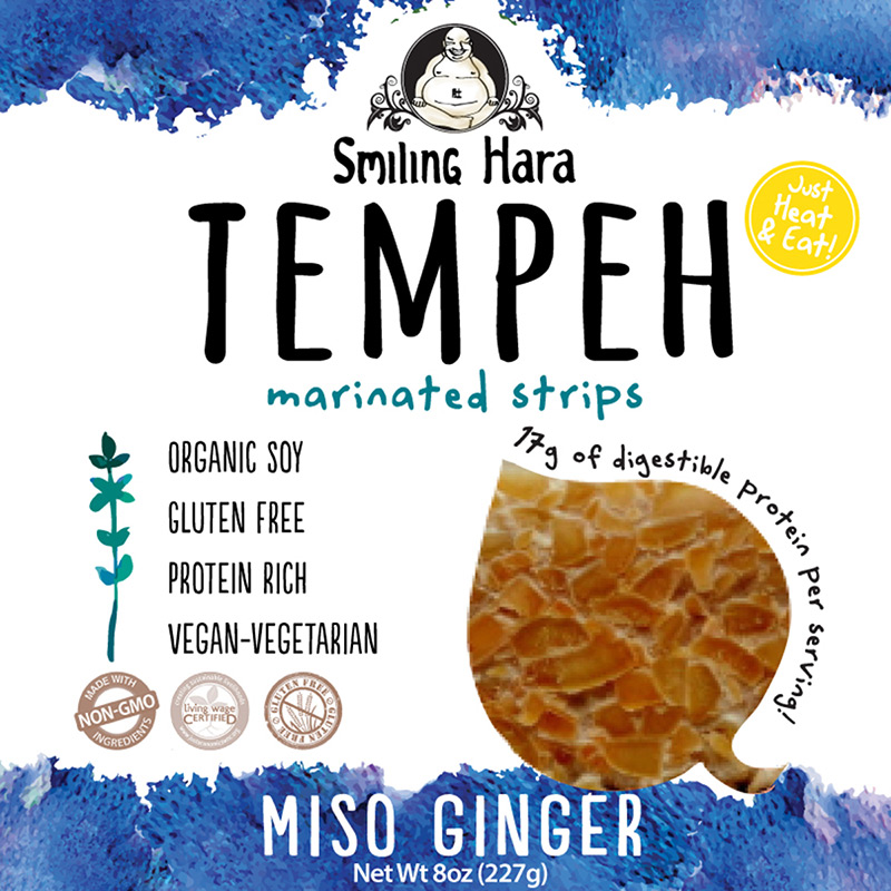 Sweet Miso Ginger Tempeh packaging