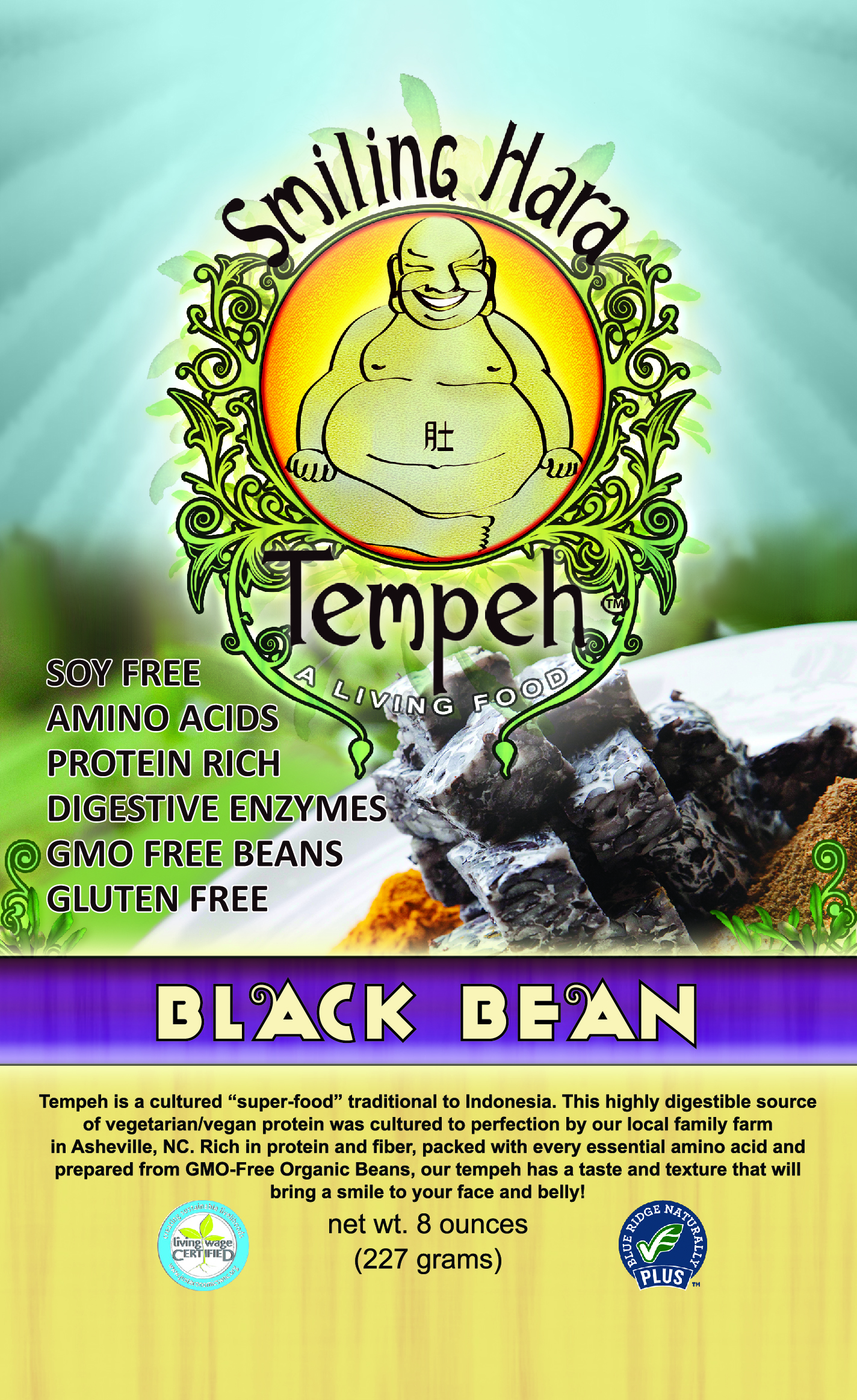 Black Bean Tempeh packaging