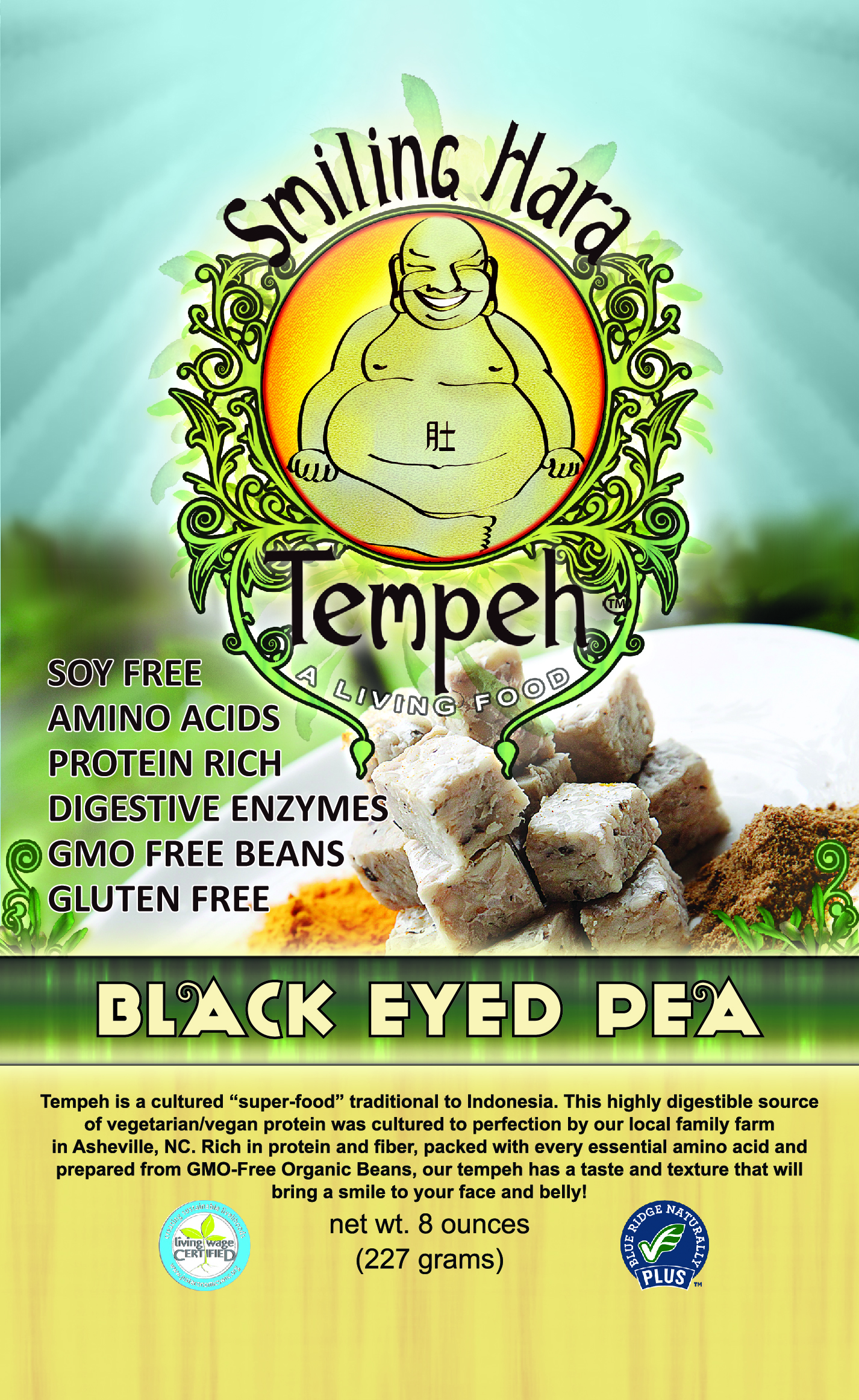 Black Eyed Pea Tempeh Packaging