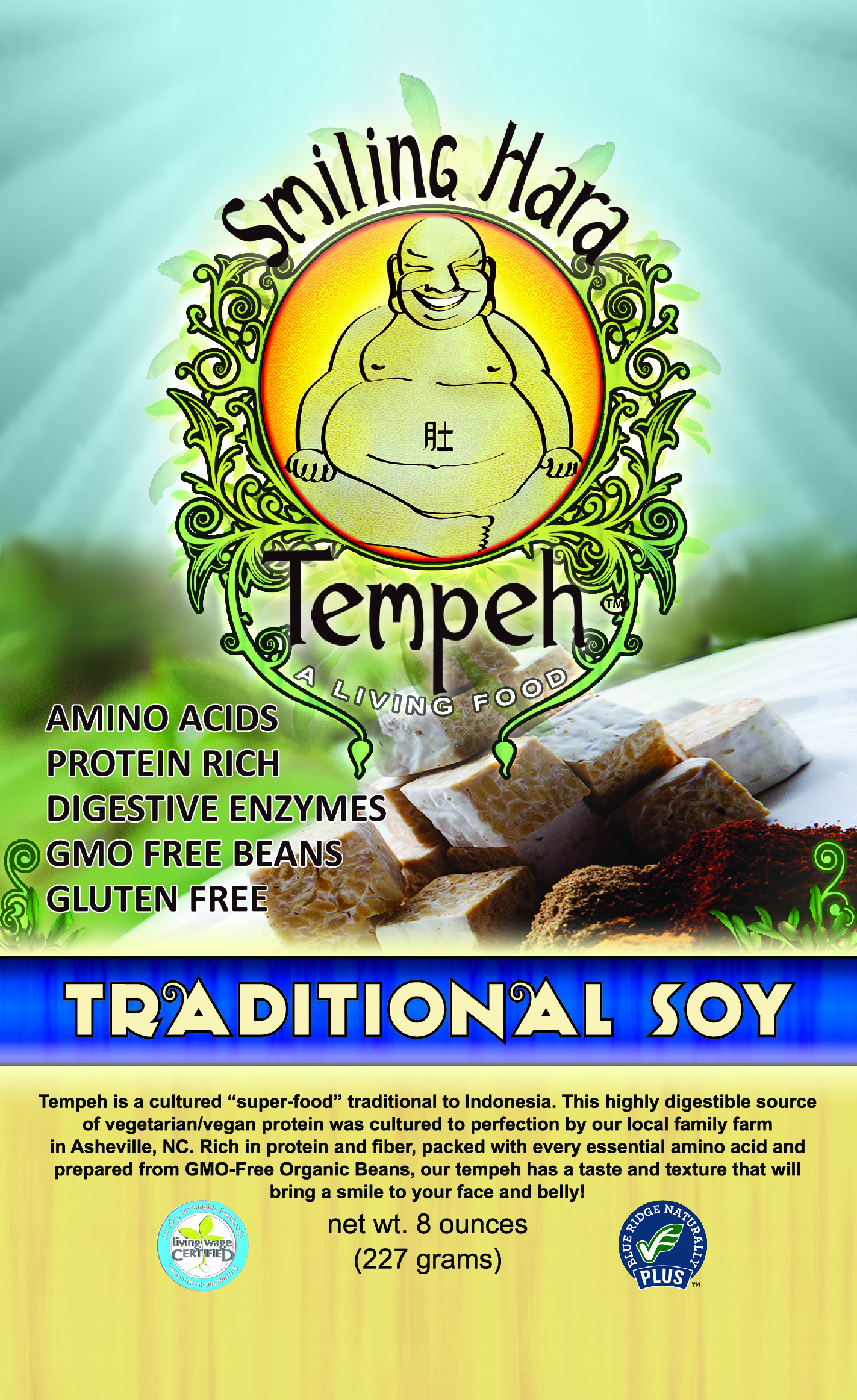 Traditional Soy Tempeh packaging
