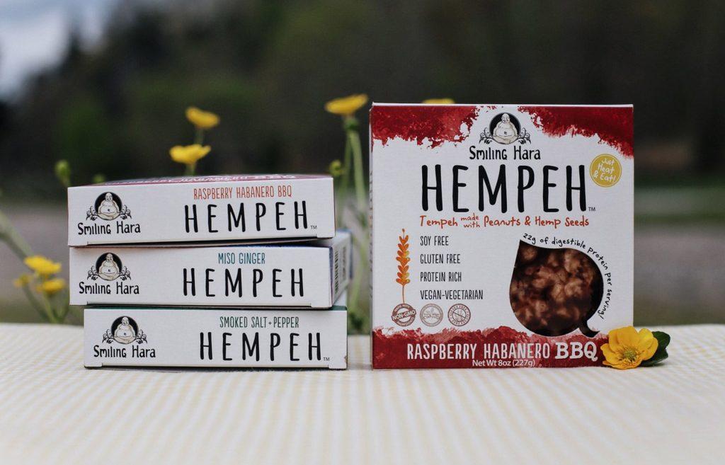 Rasberry Habenero BBQ Hempeh packages