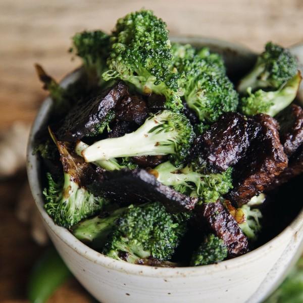 Delicious Miso Ginger broccoli bowl