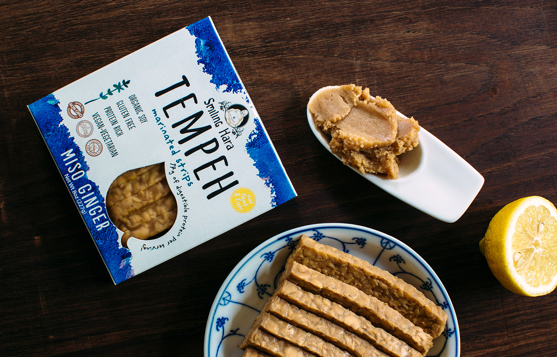 Miso Ginger Tempeh meal preparation