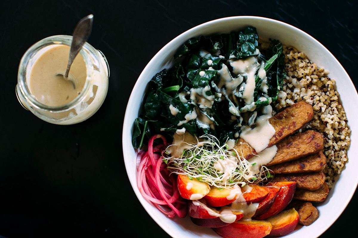 Miso Ginger Hippy bowl tempeh recipe